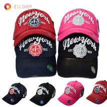 Unisex New York Bio Washing Baseball Cap Sports Major Snapback Hat Baske... - $16.90