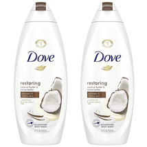 2-Dove Restoring Body Wash for Dry Skin Coconut Butter and Cocoa Butter ... - $30.49