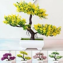 Artificial Fake Plants Bonsai Tree Pot Plants Flowers Home Hotel Garden ... - $13.59