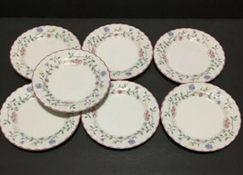 """Johnson Brothers Summer Chintz Set of 7 Bread & Butter Plates 6.25"""" Flowers PD19 - $29.95"""