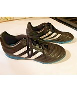 Adidas Soccer Cleats Size 4 Boys Black and Blue - $15.83