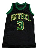 Allen Iverson #3 Bethel High School New Men Basketball Jersey Black Any Size image 4