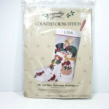 Vintage Something Special Counted Cross Stitch Kit Christmas Stocking #50214 NOS - $24.99