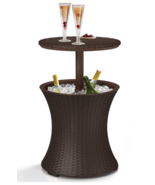 Outdoor Furniture Cooler with Bar Table - £72.49 GBP