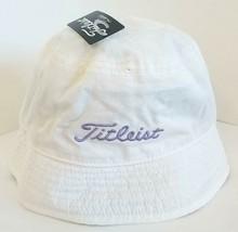 NEW! Women Ladies Fit Titleist Bucket Hat Reversible White/Purple/Plaid Cap - $64.34
