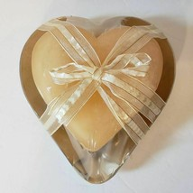 Chesapeake Bay Candle Heart Shaped Candle and Aluminum Holder New - $15.47