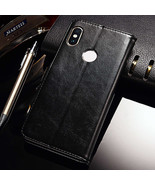 Case For Xiaomi Redmi Note Case Cover Leather Wallet Coque (Black) - $19.99