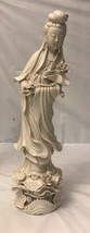 """Antique Chinese  Blanc De Chine Porcelain 17"""" Tall/stamped - $495.00"""