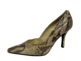 Nine West Barone women's heels animal print shoes pointed toe size US 7.5M - $22.33