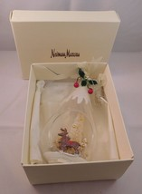 Neiman Marcus Christmas Tree Ornament Large Hand Blown Glass in Original... - $28.00