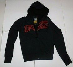 Fox Racing Black Red Sherpa Hoodie Size Small BNWT - $64.99