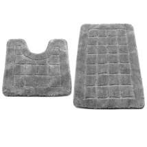 HEBE Non Slip Bath Rugs Set of 2 Microfiber Bathroom Contour Rug Set Was... - $28.42