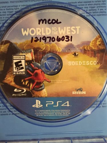 WORLD TO THE WEST Sony PlayStation 4, 2017  PS4 Limited Run Games SOEDESCO E 10+