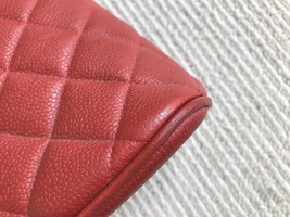 100% Authentic Chanel Vintage Red Quilted Caviar Classic Tote Bag GHW image 10