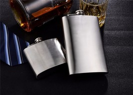 Stainless Steel Hip Flask Liquor Whisky Outdoor Portable Flasks Alcohol ... - €12,30 EUR