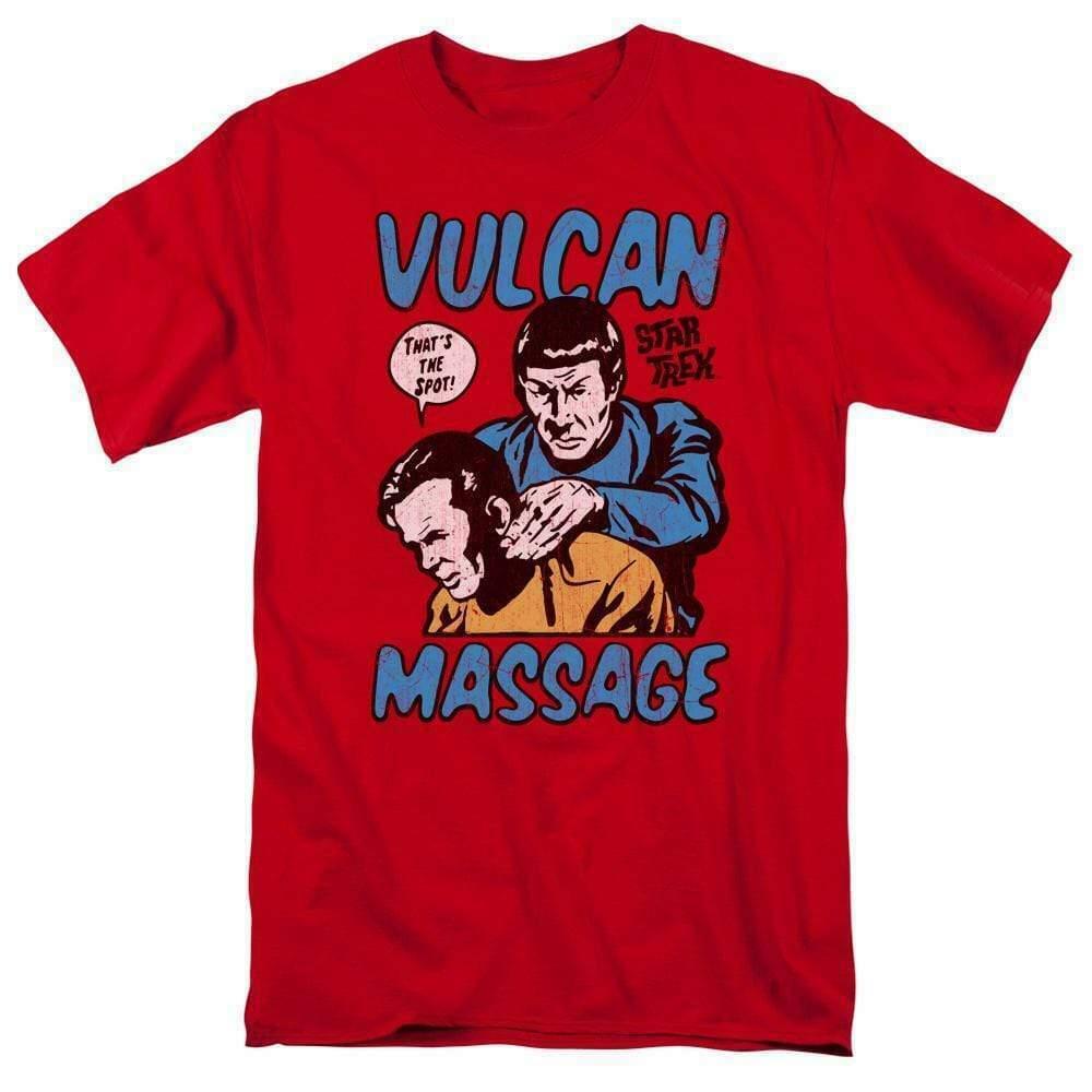 Star Trek t-shirt Kirk and Spock Vulcan Massage graphic tee CBS1738