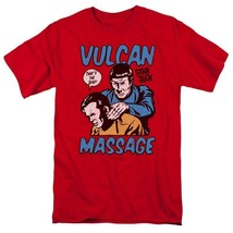Star Trek t-shirt Kirk and Spock Vulcan Massage graphic tee CBS1738 image 1
