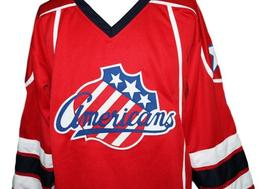 Custom Name # Rochester Americans Retro Hockey Jersey New Red Cherry #2 Any Size image 4