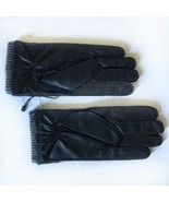 New Stewart Of Scotland Cashmere Lined Leather Gloves Men's Sz Large Bla... - $60.97