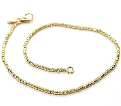 18K YELLOW GOLD BRACELET WITH FINELY WORKED SPHERES, 1.5 MM DIAMOND CUT ... - €175,24 EUR