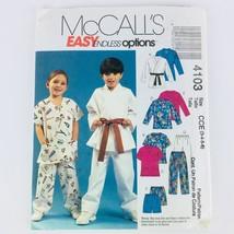 McCalls Sewing Pattern Children Easy Top Short Pant Karate 3 to 6 Boy Gi... - $6.57
