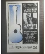 "Las Vegas Blues & Heritage Festival 11"" X 17"" Promo Poster, Vintage - $19.95"