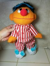"TYCO Sesame Street Sleep And Snore Ernie 1996 Plush Doll 18"" Jim Henson Muppet image 4"