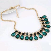 KISS WIFE 2018 New Fashion jewelry Gem statement Gold  Necklaces & Penda... - $9.52