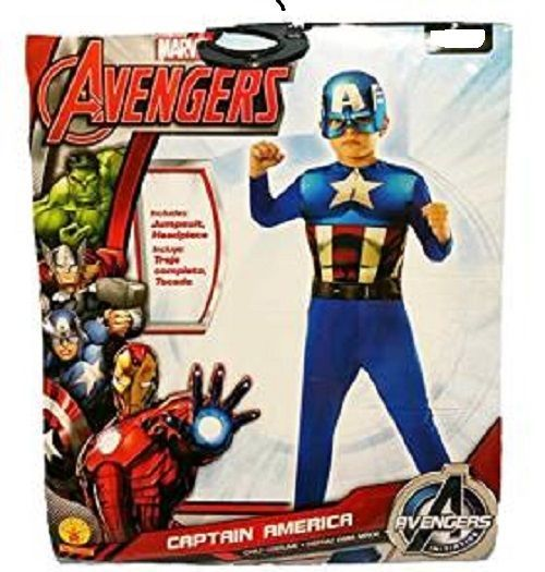 The Avengers Captain America Child Costume Marvel Comics SIZE Large 12-14 NWT
