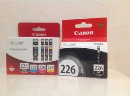CANON PGI-225 Black CLI-226 B/C/M/Y Ink Cartridges, Genuine 5-Pack - $51.99