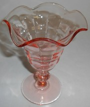1920s-30s Paden City PINK PARTY LINE PATTERN 9 oz Footed SUNDAE/PARFAIT - $19.79