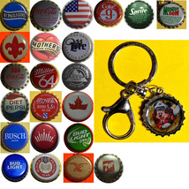 Mickey Mouse Captain Coke Sprite Diet pepsi & more Soda beer cap Keychain image 1