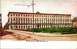 Vtg Postcard 1907 New Orleans, Louisiana Hotel Royal Street View Unused - $19.95