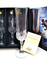 Longchamp Wine Champagne Flutes 4 Cristal d'Arques France Lead Crystal 4.5 oz  - $47.52