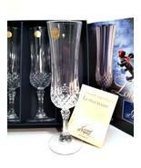 Longchamp Wine Champagne Flutes 4 Cristal d'Arques France Lead Crystal 4... - $47.52