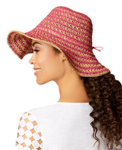 Nine West Women's Crochet Floppy Hat (Pink/Natural, One Size) - €26,82 EUR
