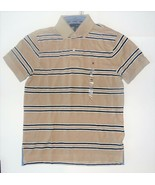 Tommy Hilfiger Mens Polo Shirt Striped Brown Size XSmall NWT - $38.79