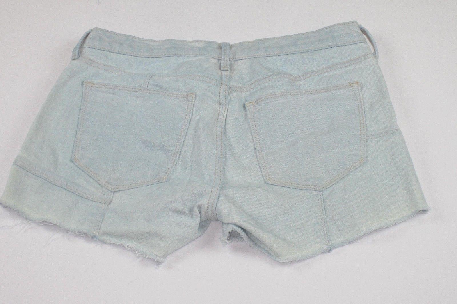 Women GAP 1969 Cut-Off Frayed Bleached Patchwork denim jean shorts Size 4/27R