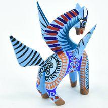 Handmade Alebrijes Oaxacan Wood Carved Folk Art Pegasus Flying Horse Figurine image 4