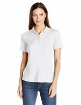 Riders by Lee Indigo Women's Morgan Short Sleeve Polo Shirt, Arctic White, Large - $11.44