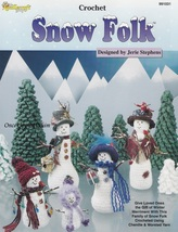 Snow Folk Snowmen & Evergreen Trees, TNS Crochet Pattern Booklet 991031 NEW - $5.95