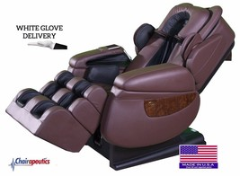 Luraco Brown iRobotics i7 3D Zero Gravity Massage Chair White Glove + Bo... - $171.626,57 MXN