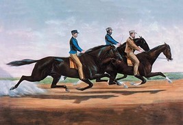 Horse Race by Nathaniel Currier - Art Print - $19.99+