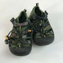 Boys KEEN Newport H2 Water SandalS Green Camo Camouflage, Toddler 11 image 2