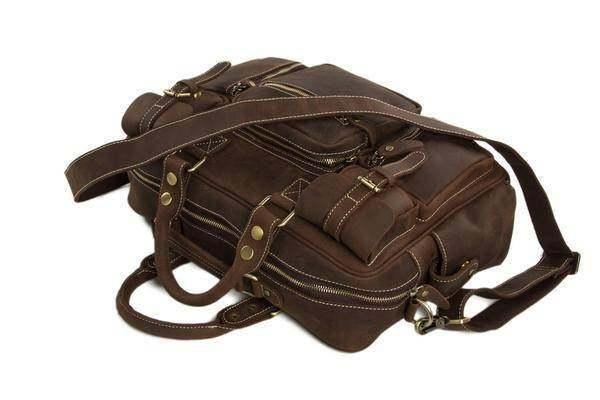 On Sale, Natural Leather Men's Travel Bag, Laptop Bag, Men Leather Briefcase image 5