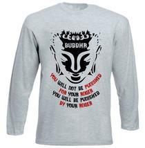 Buddha Anger Quote - New Cotton Grey Tshirt - $24.02