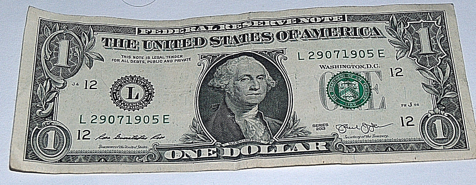 Primary image for 2013 $1 One Dollar Bill US Note Date # July 29 1905 29071905 Fancy Serial Number