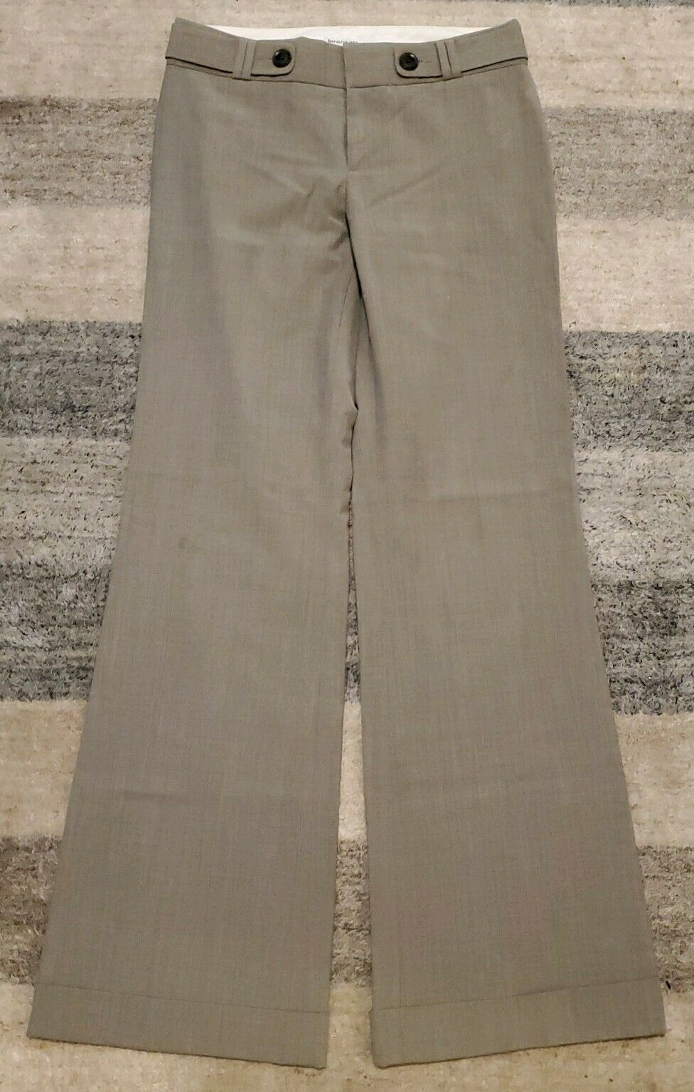 Banana Republic Beige Flare Wide-Leg Dress Pants for Women, Martin Fit, Size 2 - $14.90