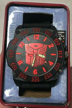 Transformers Mens Accutime Watch Red Autobot Wrist New in Case - $39.19
