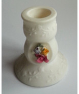 PartyLite Juliette Taper Candle Holder Bisque Porcelain Hand-crafted Fle... - $9.70